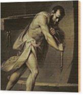 Samson In The Treadmill Wood Print