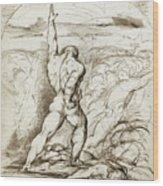 Samson Slaying The Philistines With The Jawbone Of An Ass Wood Print