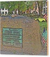Samuel Adams Gravestone At Granary Burying Ground In  Boston-massachusetts Wood Print