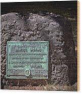12- Samuel Adams Tombstone In Granary Burying Ground Eckfoto Boston Freedom Trail Wood Print