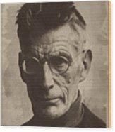 Samuel Beckett 1 Wood Print