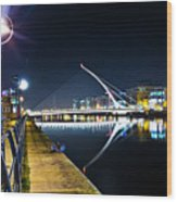 Samuel Beckett Bridge 2 Wood Print