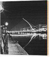 Samuel Beckett Bridge 2 Bw Wood Print
