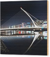 Samuel Beckett Bridge 3 V2 Wood Print