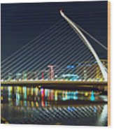Samuel Beckett Bridge 4 Wood Print