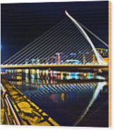 Samuel Beckett Bridge 5 Wood Print