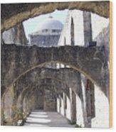 San Antoniio Spanish Mission Wood Print