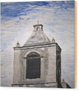 San Antonio Belltower Wood Print