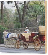 San Antonio Carriage Wood Print