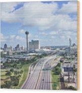 San Antonio City View -color Canvas Print Wood Print