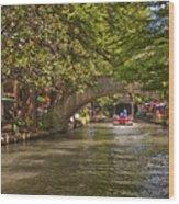 San Antonio Riverwalk Wood Print by Steven Sparks
