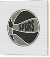 San Antonio Spurs Retro Shirt Wood Print