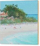 San Clemente Beach Panorama Wood Print