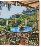 San Clemente Estate Patio Wood Print