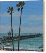 San Clemente Peir Wood Print