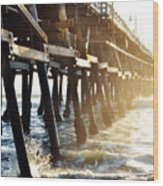 San Clemente Pier Magic Hour Wood Print