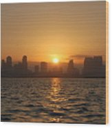 San Diego Bay Sunrise Wood Print