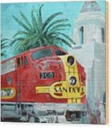 San Diegan On Liberty Wood Print