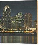 San Diego Cityscape Wood Print