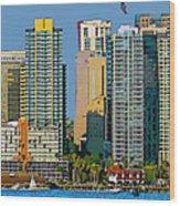 San Diego Downtown Living - Bayside Wood Print
