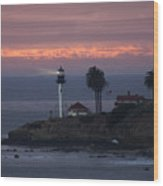 San Diego Lighthouse Wood Print