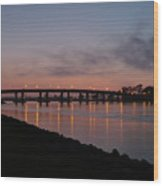San Diego Sunset 1 Wood Print