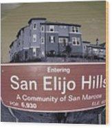 San Elijo Hills Wood Print