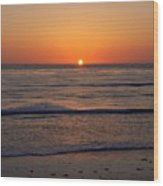 San Eljio Sunset Ca Wood Print