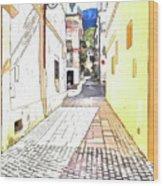 San Felice Circeo Street Wood Print