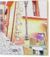 San Felice Circeo Strret Lamp Wood Print