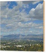 San Fernando Valley Panorama Wood Print