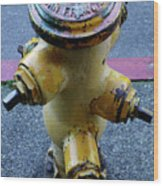 San Fran Hydrant Wood Print