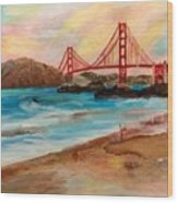 San Francisc Bridge Wood Print