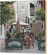 San Francisco - Maiden Lane - Outdoor Lunch At Mocca Cafe - 5d17932 Wood Print by Wingsdomain Art and Photography