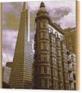 San Francisco Architecure Poster Wood Print