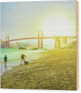 San Francisco Baker Beach Wood Print