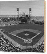 San Francisco Ballpark Bw Wood Print