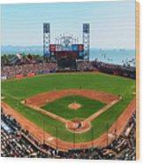 San Francisco Ballpark Wood Print