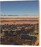 San Francisco Bay Early Morning Glow  Wood Print