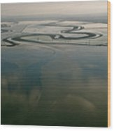 San Francisco Bay Salt Flats 2 Wood Print