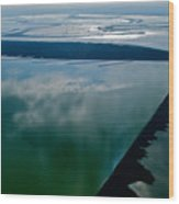 San Francisco Bay Salt Flats 3 Wood Print