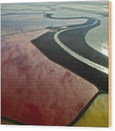 San Francisco Bay Salt Flats 4 Wood Print