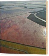 San Francisco Bay Salt Flats 5 Wood Print