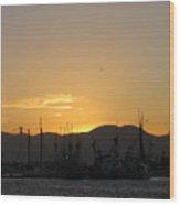 San Francisco Bay Sunset Wood Print