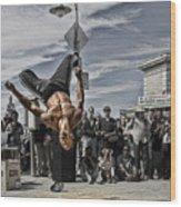 San Francisco Breakdancer Wood Print