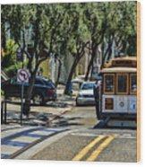 San Francisco, Cable Cars -1 Wood Print