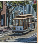 San Francisco, Cable Cars -2 Wood Print