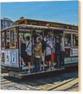 San Francisco, Cable Cars -3 Wood Print