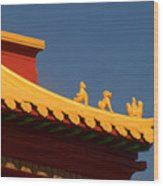 San Francisco California China Town Wood Print