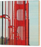 San Francisco Golden Gate Bridge Symphony In California Wood Print